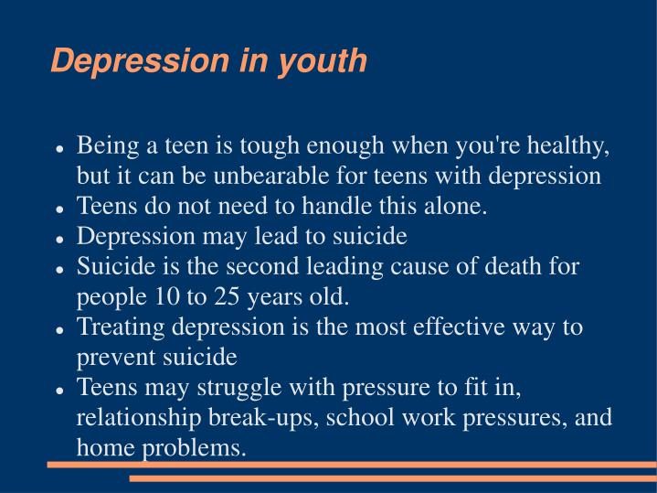 Depression in youth