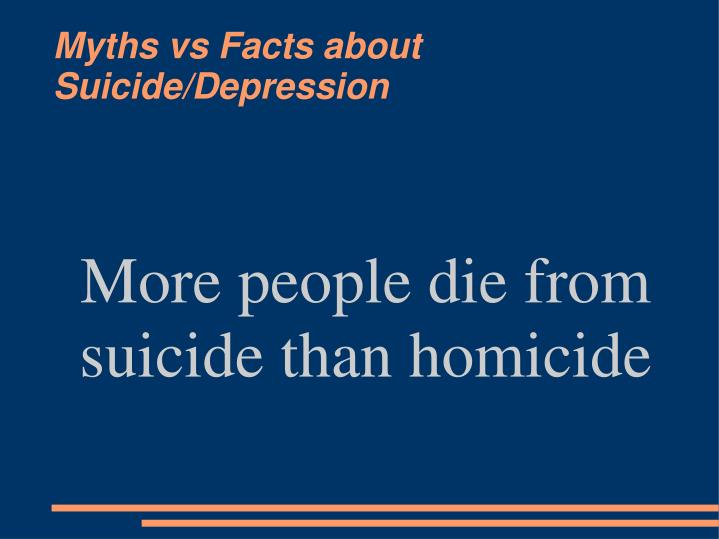 More people die from suicide than homicide