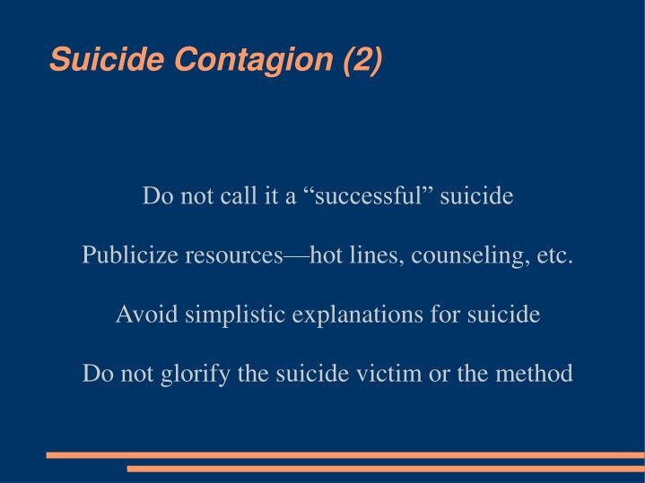 "Do not call it a ""successful"" suicide"