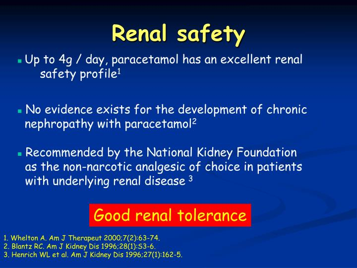 Renal safety