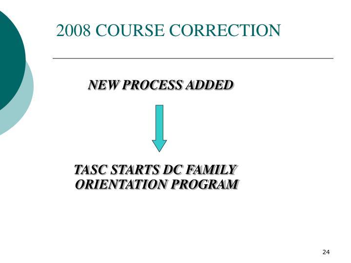 2008 COURSE CORRECTION