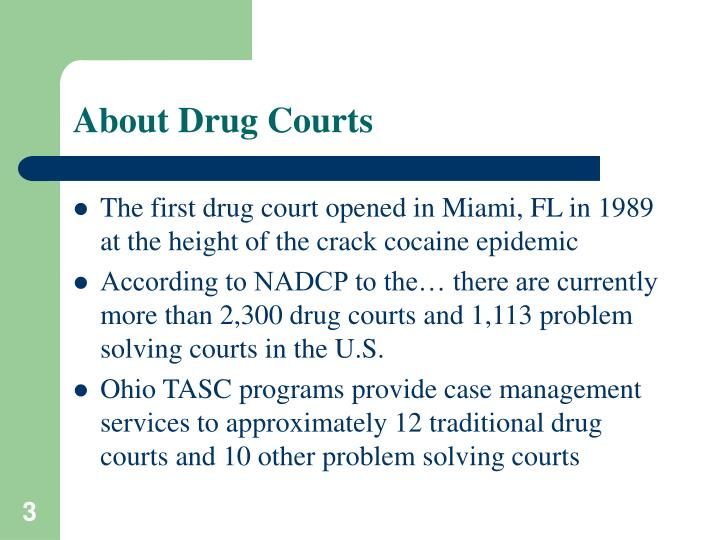 About drug courts