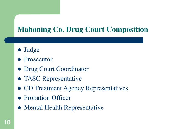Mahoning Co. Drug Court Composition