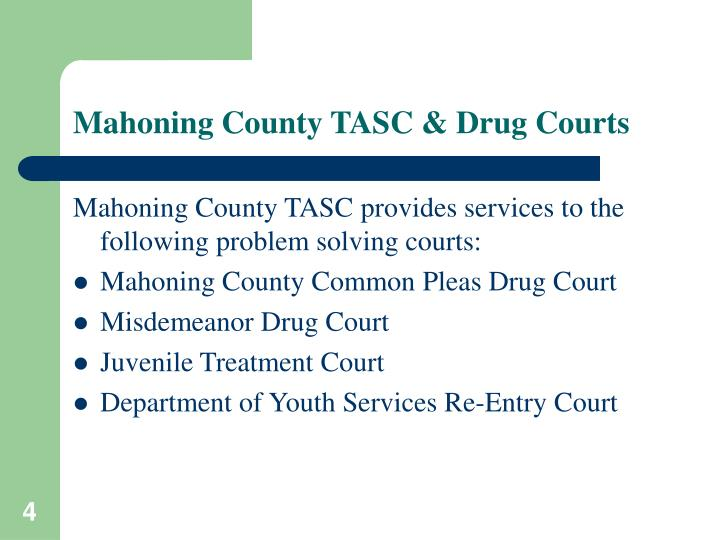 Mahoning County TASC & Drug Courts