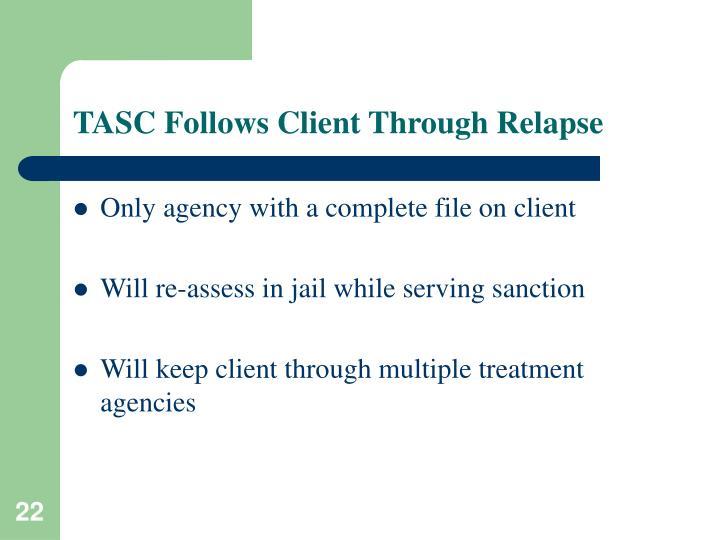 TASC Follows Client Through Relapse