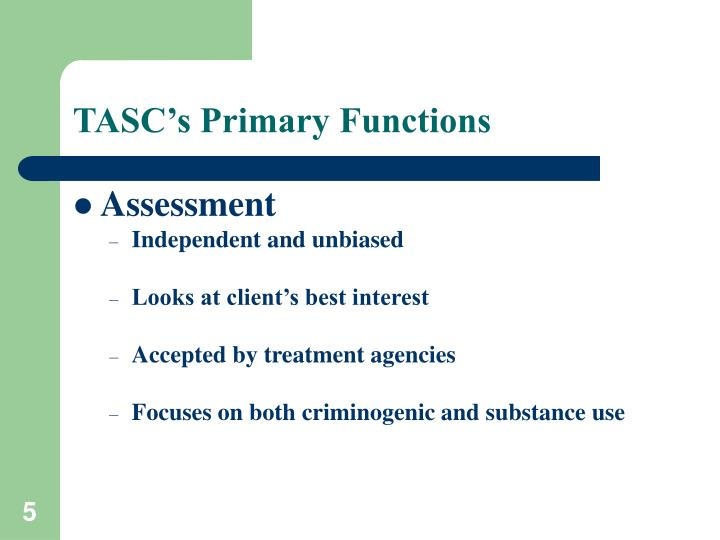 TASC's Primary Functions