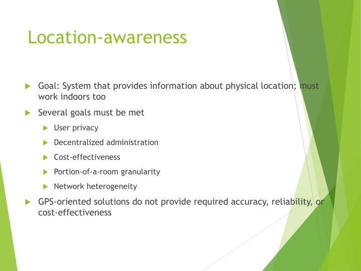 Location-awareness