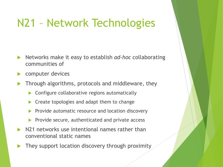 N21 – Network Technologies