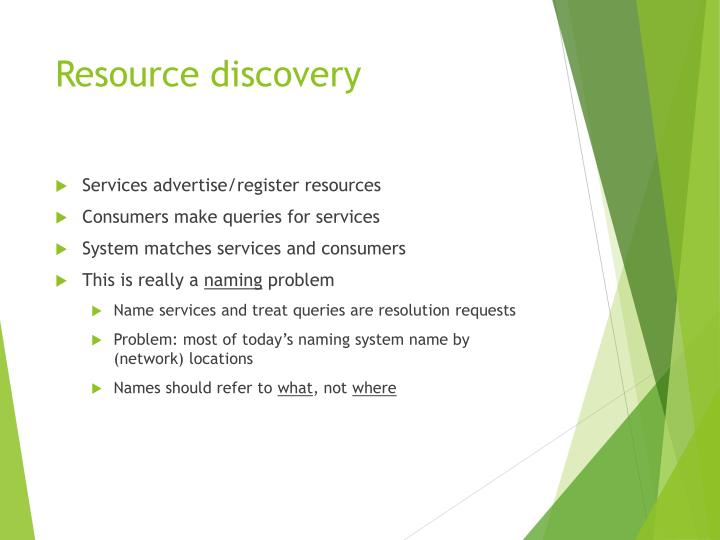 Resource discovery