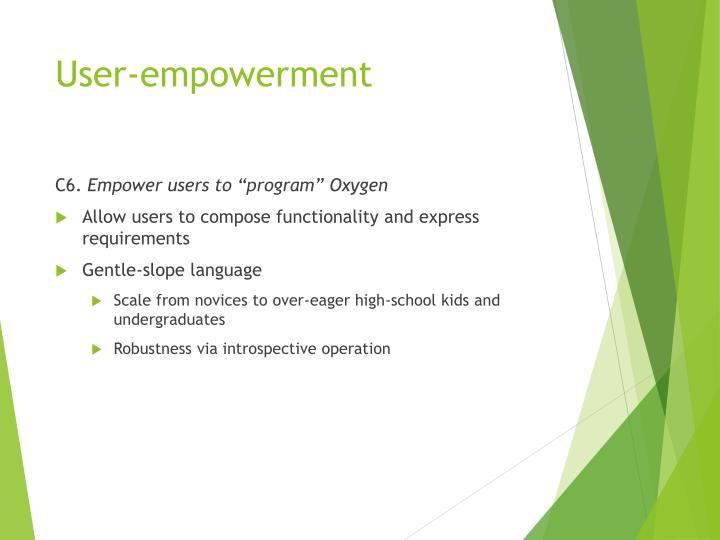 User-empowerment