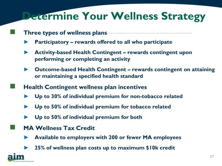 Determine Your Wellness Strategy
