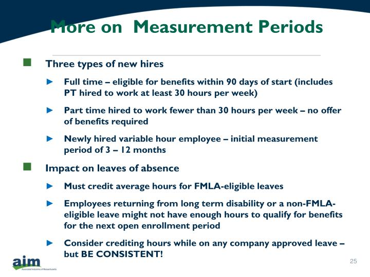 More on  Measurement Periods