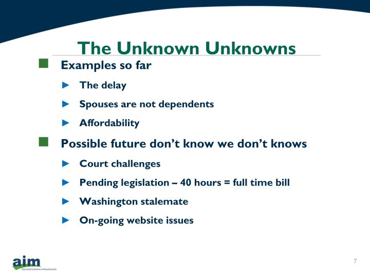 The Unknown Unknowns