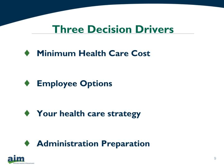 Three Decision Drivers