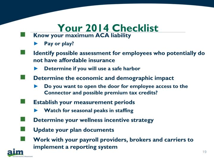 Your 2014 Checklist
