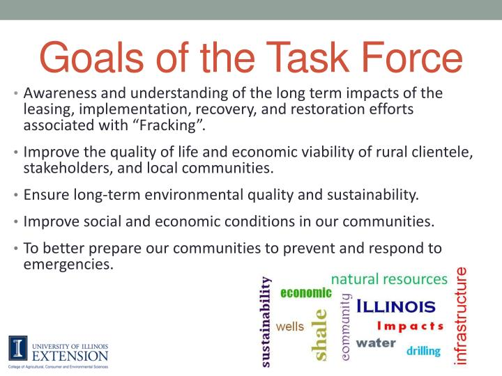 Goals of the Task Force