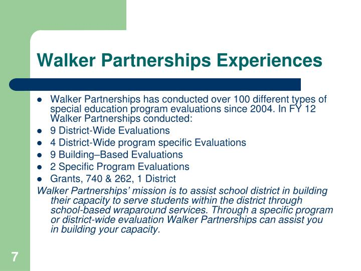 Walker Partnerships Experiences