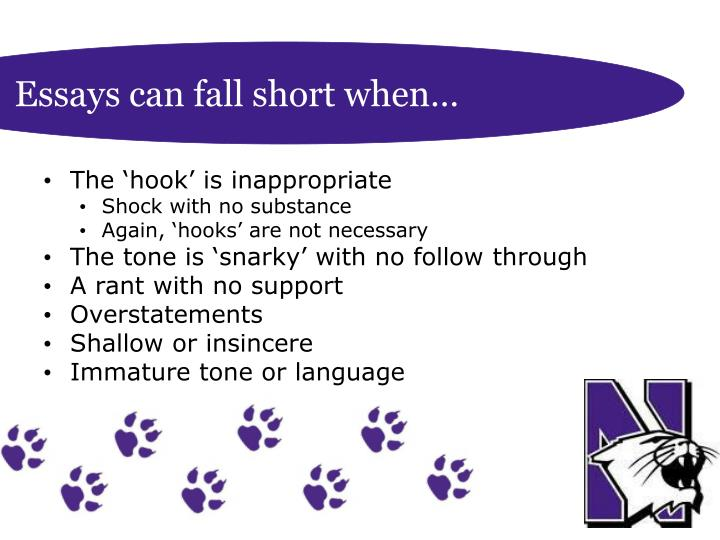 Essays can fall short when…
