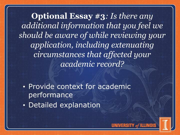 Optional Essay #3