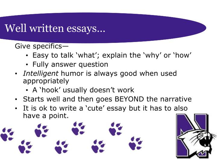 Well written essays…