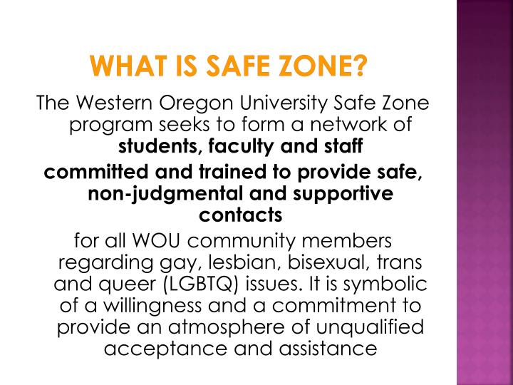 What is Safe Zone?