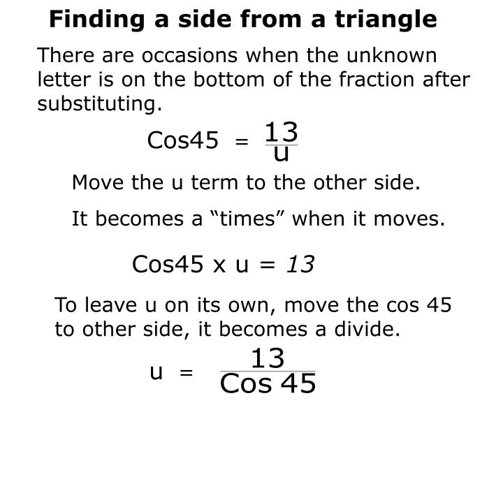 Finding a side from a triangle
