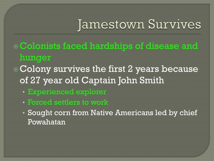 Jamestown Survives