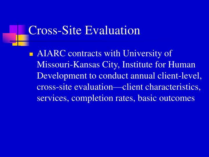 Cross-Site Evaluation