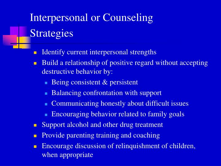 Interpersonal or Counseling