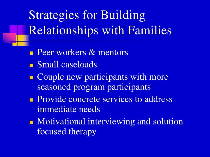 Strategies for Building Relationships with Families