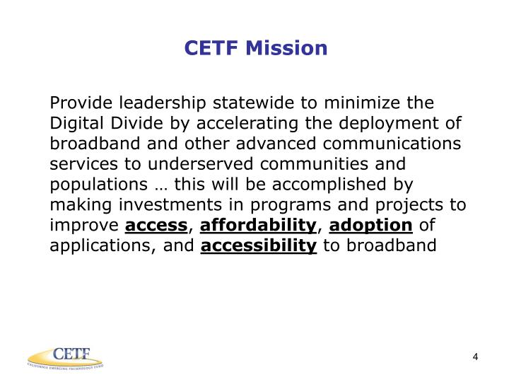 CETF Mission