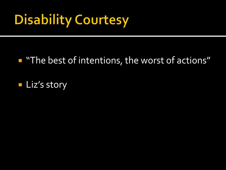 Disability Courtesy