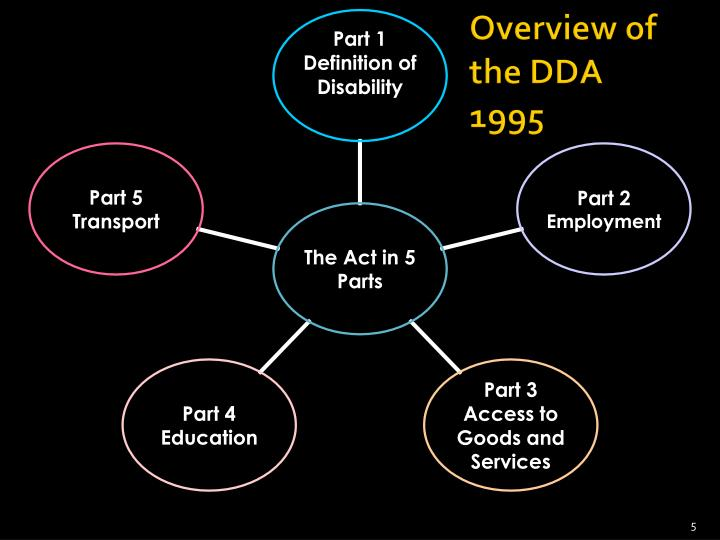 Overview of the DDA 1995