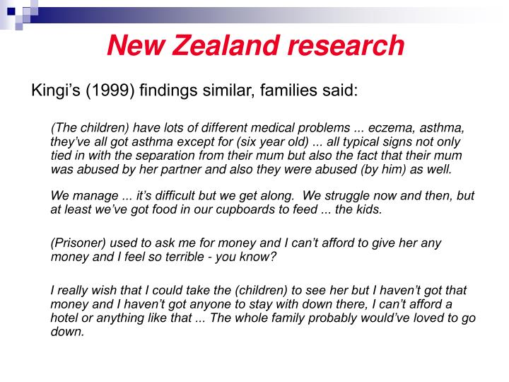New Zealand research