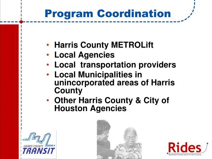 Program Coordination