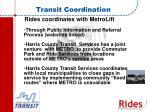 transit coordination