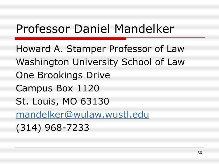 Professor Daniel Mandelker