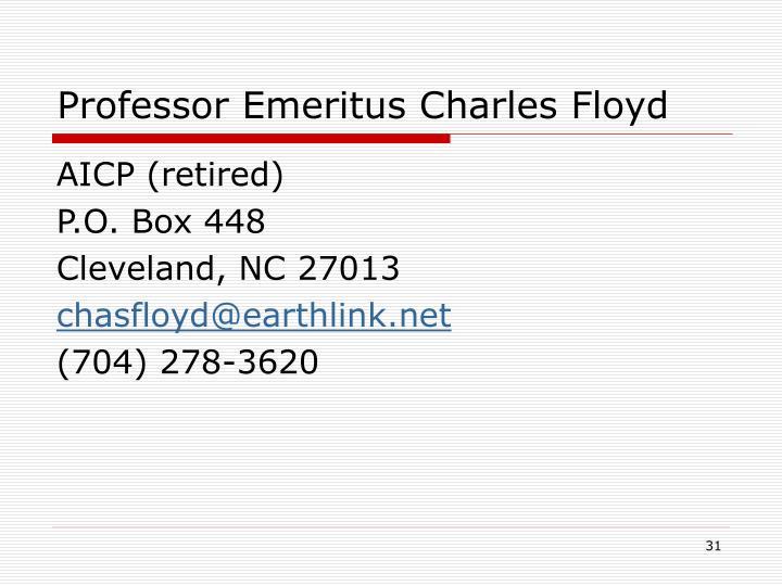 Professor Emeritus Charles Floyd