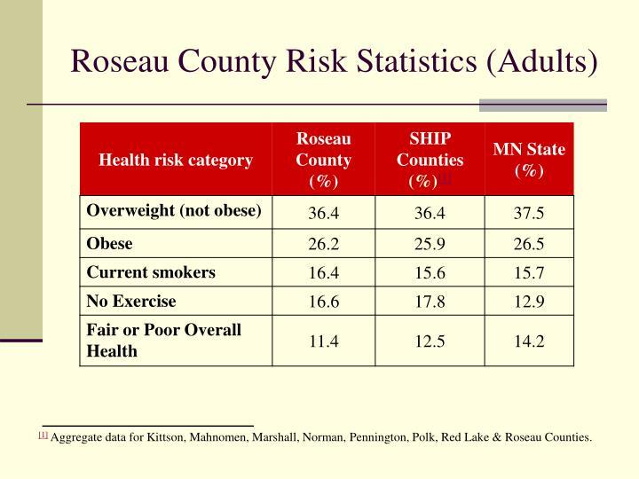 Roseau County Risk Statistics (Adults)