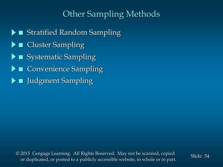 Other Sampling Methods
