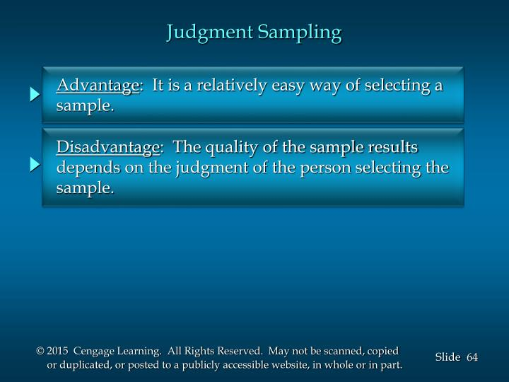 Judgment Sampling