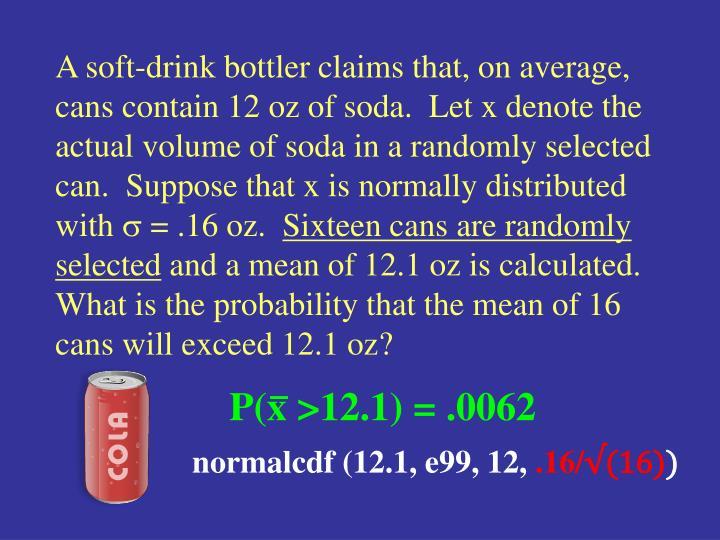 P(x >12.1) = .0062