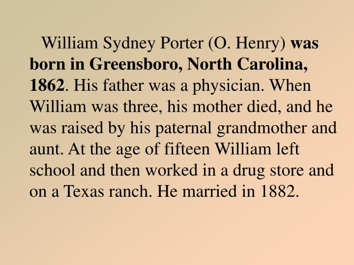 William Sydney Porter (O. Henry)