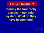 identify the four rocky planets in our solar system what do they have in common