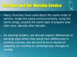 the elder and the worship service