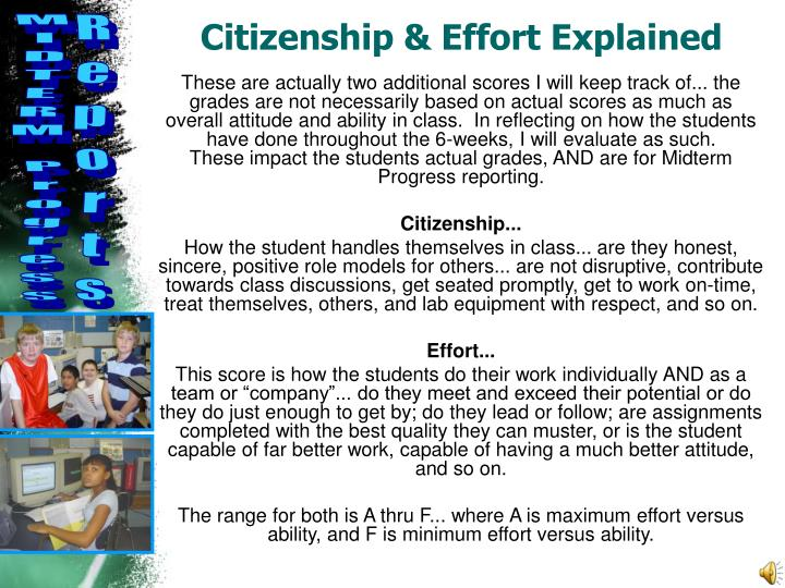 Citizenship & Effort Explained