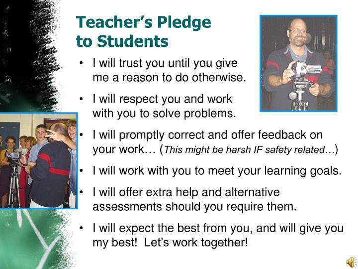 Teacher's Pledge