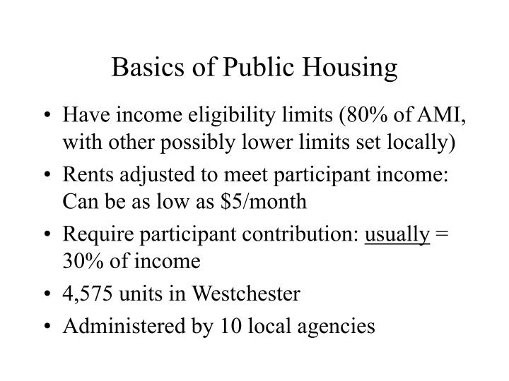 Basics of Public Housing