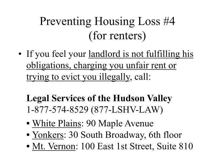 Preventing Housing Loss #4