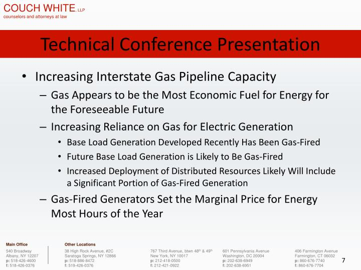 Technical Conference Presentation